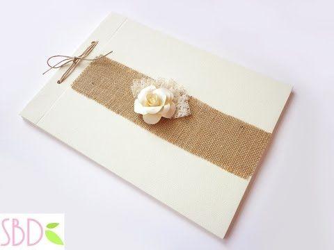 Libro degli ospiti (o firme) shabby - Shabby Wedding Guestbook - YouTube