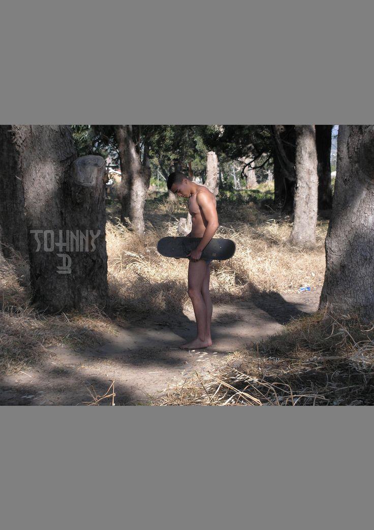 Nude shoot #JohnnyB #Skateboard #Bush
