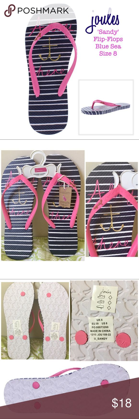 Joules Sandy Printed Flip-Flop Size 8Nwt Adorable -7165