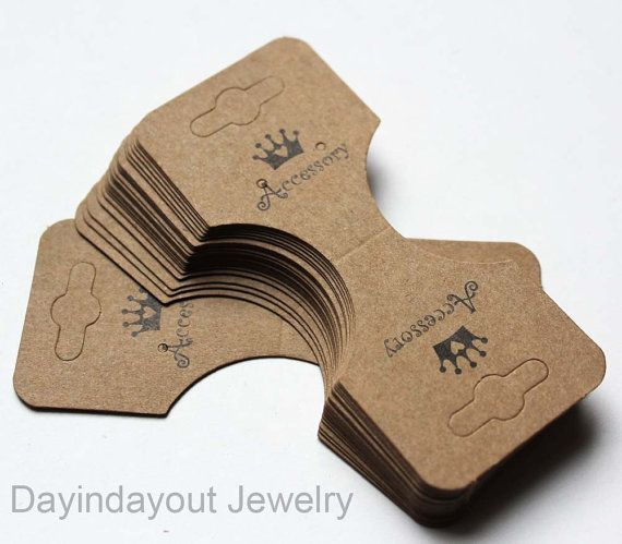 Brown Kraft Paper Fold Over Card for Jewelry by DayInDayOutJewelry, $13.00
