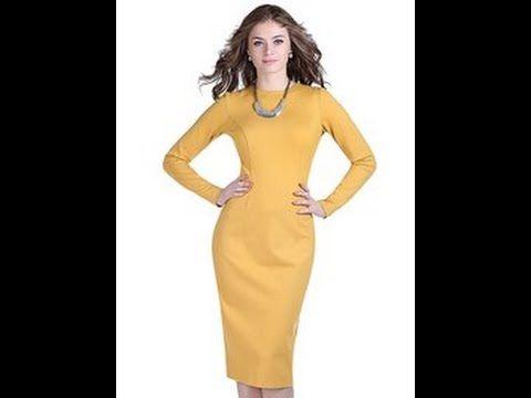 Платье с рельефами до линии бедер. - YouTube