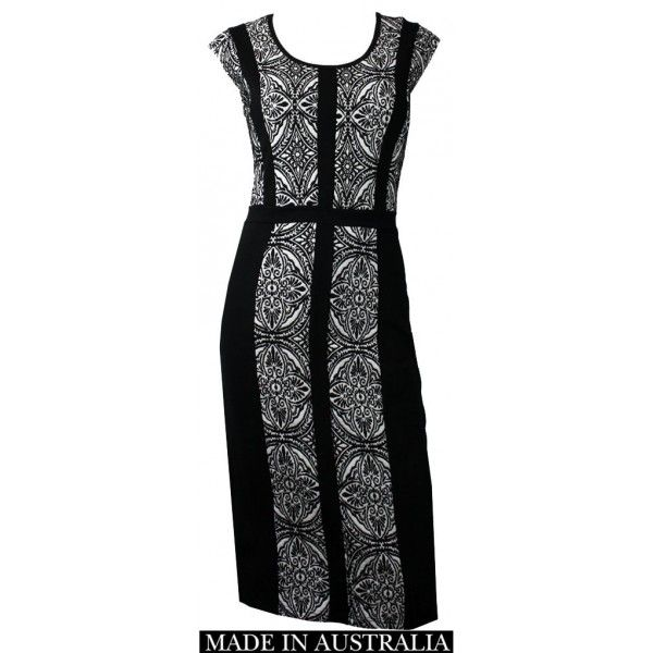 Funa Jacquard Slimming Dress