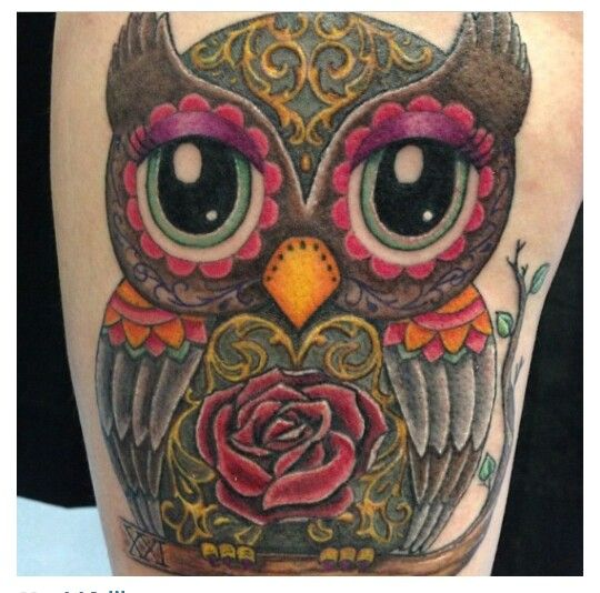 Three of my favorite things in one tattoo... Just needs a little clover somewhere and some paisley!