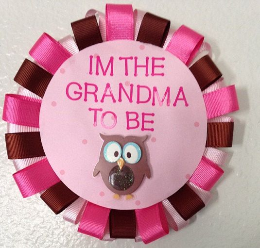 Grandma To Be Pink Owl Baby Shower Pin by DesignsByDesaree on Etsy, $15.00