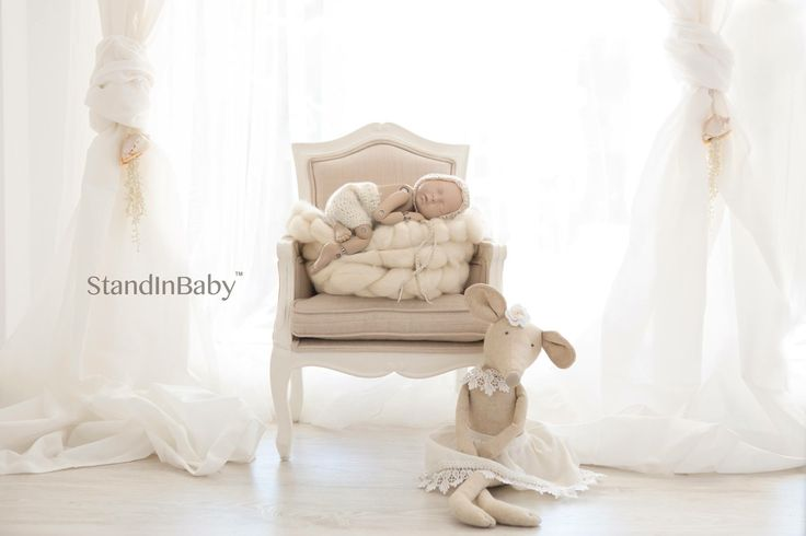Testing out lighting and camera angles for this digital backdrops with StandInBaby
