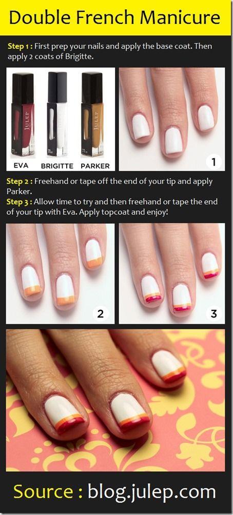 tutoriale manichiura french 6