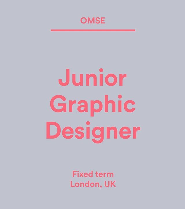 Wethemakersjobs Omse Co Is Looking For A Junior Designer To