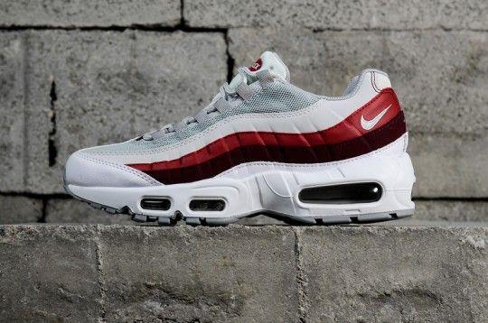 designer fashion 95641 a6c73 Nike Air Max 95 Essential Mens 749766-103 White Grey Red