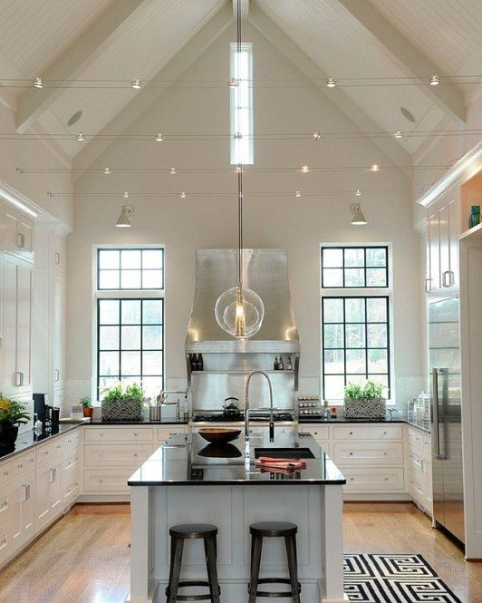 White Kitchen Vaulted Ceiling: 1732 Best Images About Kitchens On Pinterest