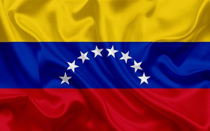 Télécharger fonds d'écran Drapeau vénézuélien, Venezuela, Amérique du Sud, drapeau du Venezuela, des symboles nationaux