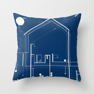 HOME Throw Pillow by ARCHIGRAF - $20.00