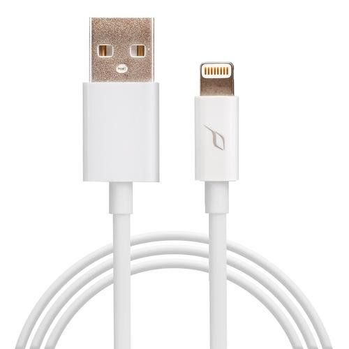 Powermod MFI approved Lightning Charging Cable for use with Apple iPhone 5 iPhone 5S iPhone 5C iPhone 6 iPhone 6 Plus iPad Mini all versions iPad Air all versions and iPad Nano with USB connector 3 feet long 09 meters White * Learn more by visiting the image link.