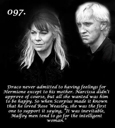 Going for the intelligent woman.....after all these years!  Common sense must skip a generation in the Malfoy family.