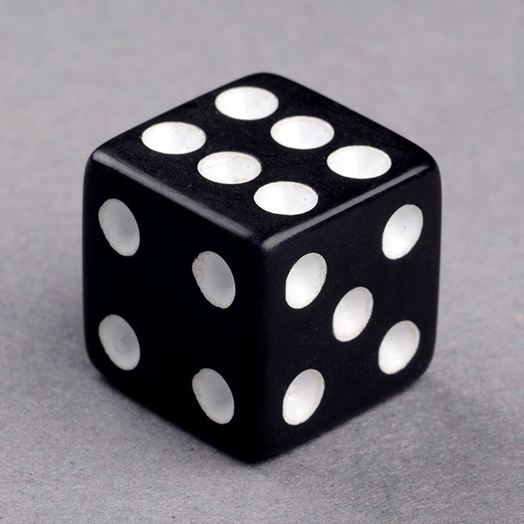 Black Dice by BGM with white pips. In normal, standard-sized dice and is available in other sizes. As well as different colors options. #dice #boardgames #dicegames