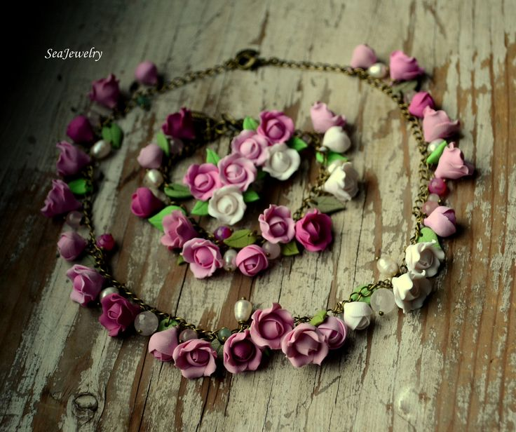 Polymer clay roses by SeaJewelry
