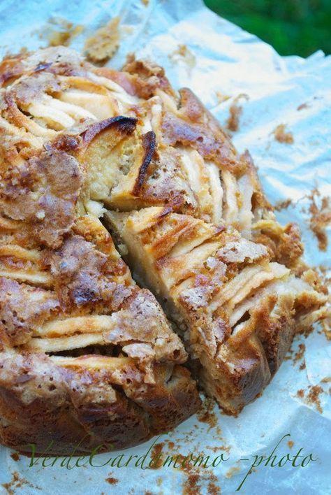 Torta di mele e cannella con farina di riso   Verde Cardamomo