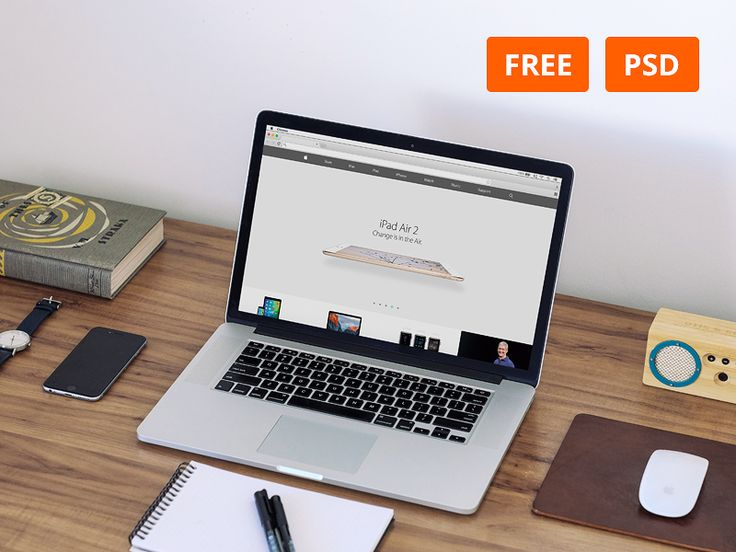 Free Macbook Work E Mockup