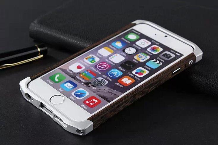 High Quality Element Case Ronin Aluminium Alloy Bamboo Wood Case for iPhone 6S Plus/6Plus (Dark Brown), Flashinthebox.com