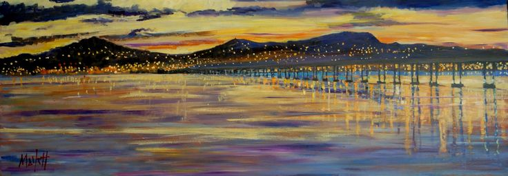 Timmy Mallett Sunset Over Dundee Signed Limited Edition print on canvas | Scottish Contemporary Art