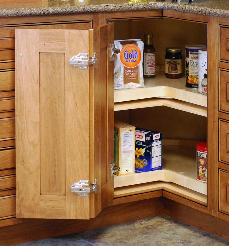 Corner Cabinet Solutions | Storage Solutions | Custom Wood Products    Handcrafted Cabinets
