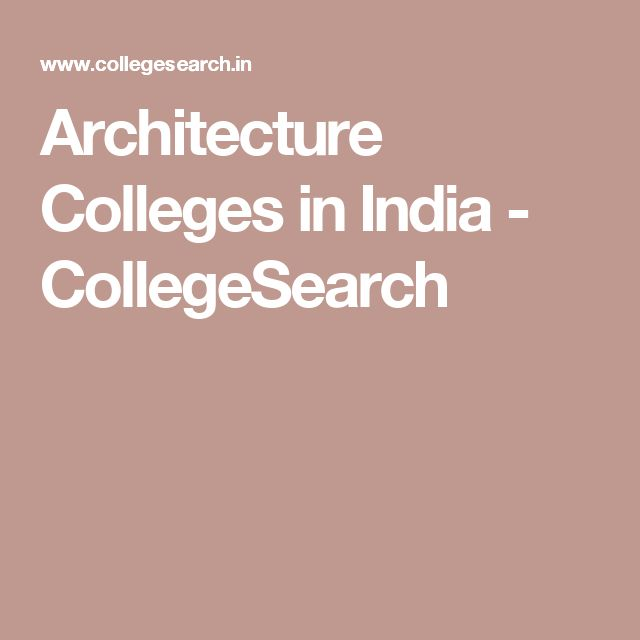 Architecture Colleges in India - CollegeSearch