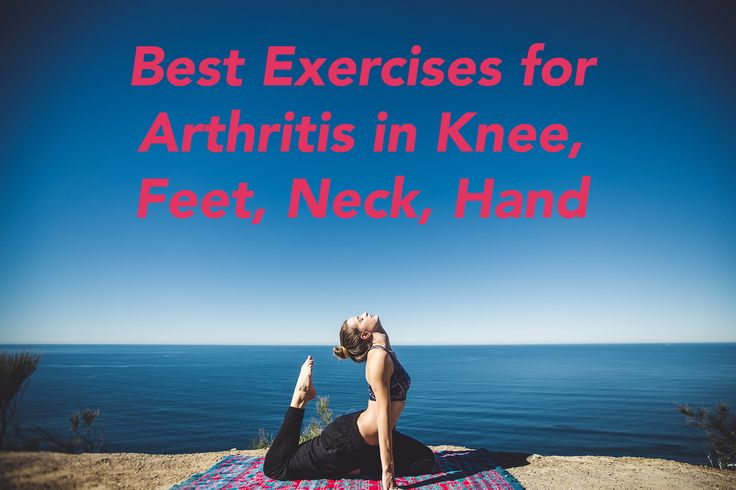 Best Exercises for Arthritis in Knee, Feet, Neck, Hand etc. Exercise for arthritis can benefit a lot of people who have arthritis. Exercises like Squats and Yoga are big part from knee arthritis treatment.