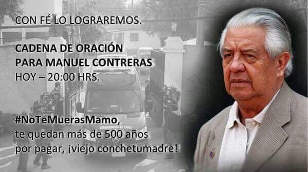 Cadena de oración para el Mamo Contreras! #NoTeMuerasMamo