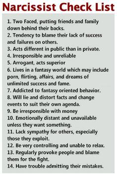 A narcissist will have some, but not necessarily all, of these traits. Narcissistic Personality Disorder It is believed that narcissism is an attitude which is present in every individual and is ...
