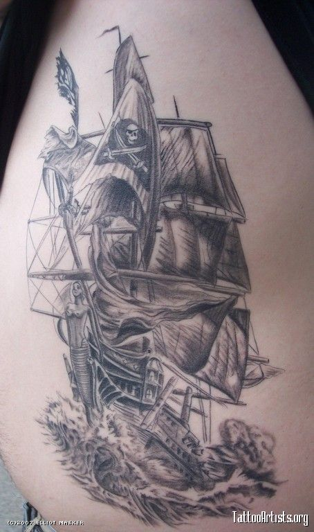 25  best ideas about Pirate ship tattoos on Pinterest | Pirate ...