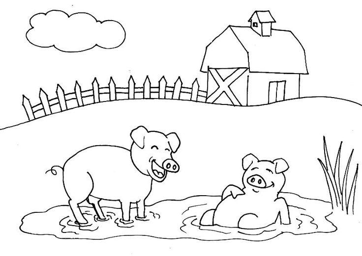 place pig coloring pages
