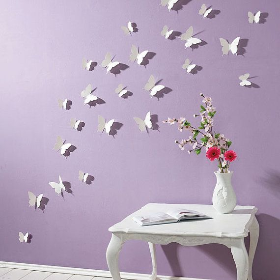 {Nos autocollants de mur / Wall Decals} Cette 3D Stickers muraux papillon sont…