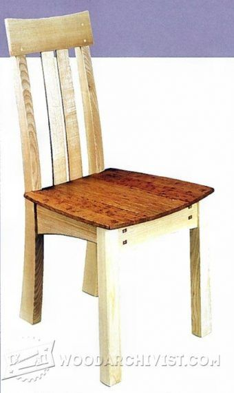 Pine Dining Table and Chairs Plans - Furniture Plans and Projects |  WoodArchivist.com