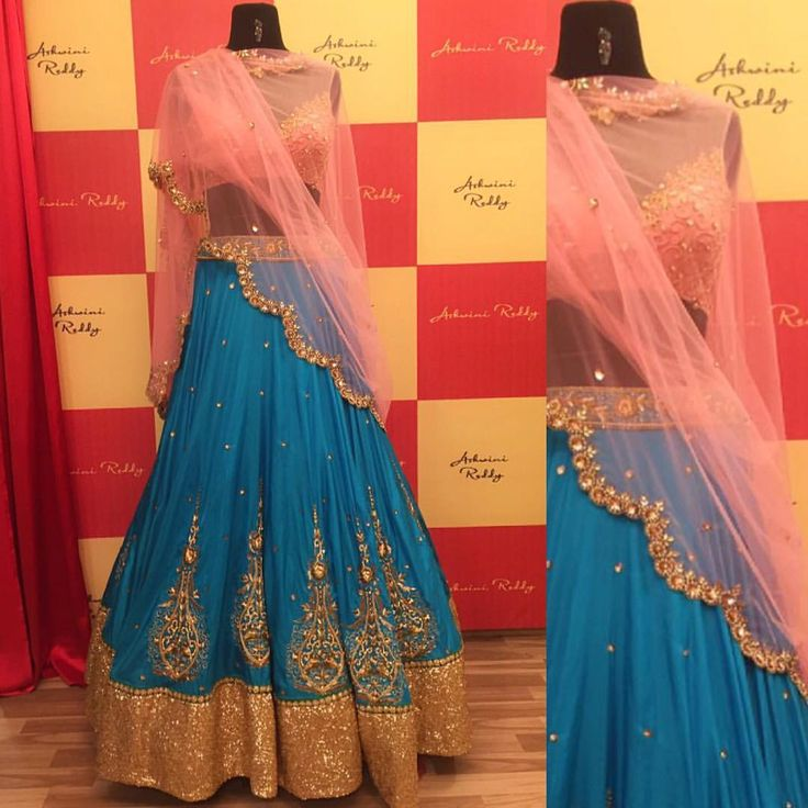 A scream to all the  brides and  bridesmaids out there!Watch out for our  wedding collection 2016 peeps!  ashwinireddy  arbride  blue  pink  lehenga  09 October 2016