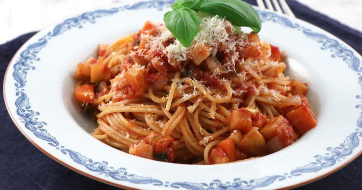Tips! Rätten blir vegansk om du utesluter parmesanen eller byter ut den mot vegansk variant.