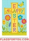Happy Easter Cross Garden Flag