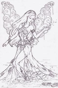 art nouveau mermaid color pages - Google Search