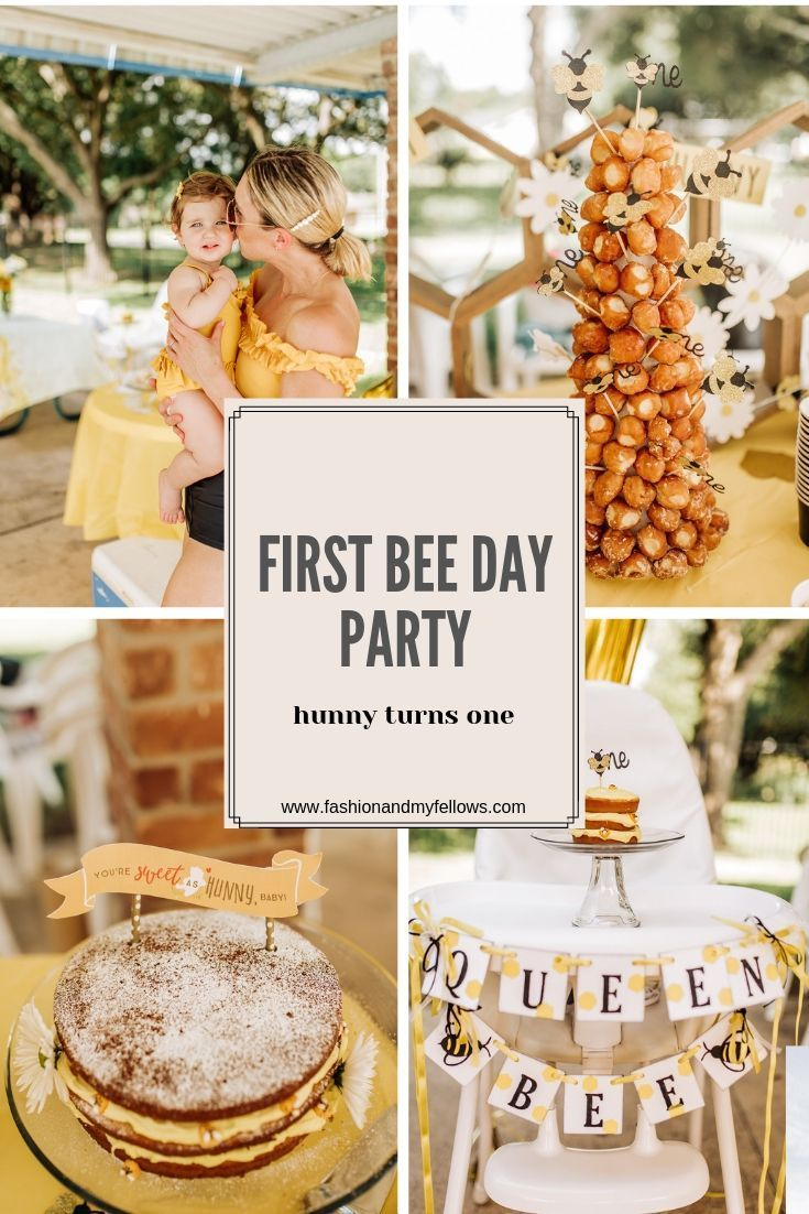Foster S First Bee Day First Birthday Party Themes Bumble Bee Birthday Boy Birthday Par First Birthday Party Themes Boy Birthday Parties Bee Birthday Party
