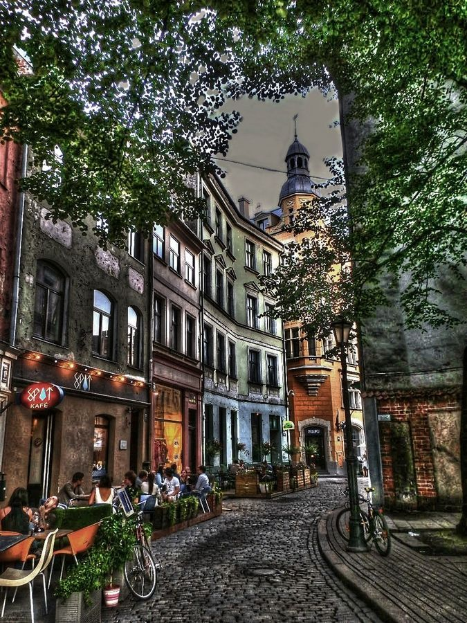 Riga, Latvia - not a place one would normally think of. Lovely though and inviting.