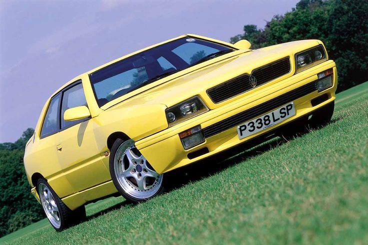 Yellow Maserati Biturbo