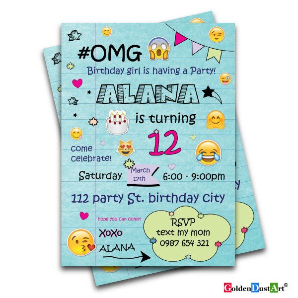 Best 25+ Teen birthday invitations ideas on Pinterest | Birthday ...