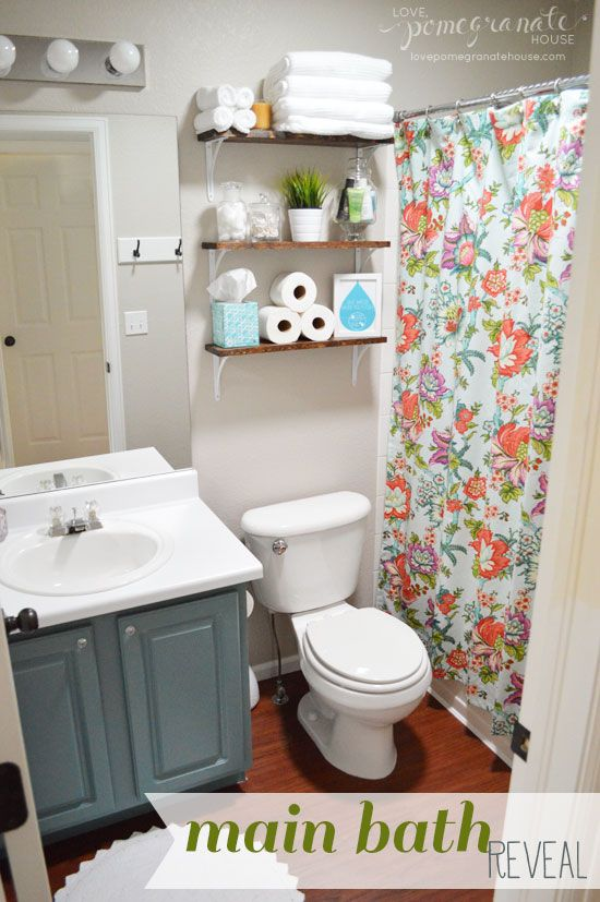 Main Bathroom Makeover Reveal Via Love, Pomegranate House #DIY #homedecor