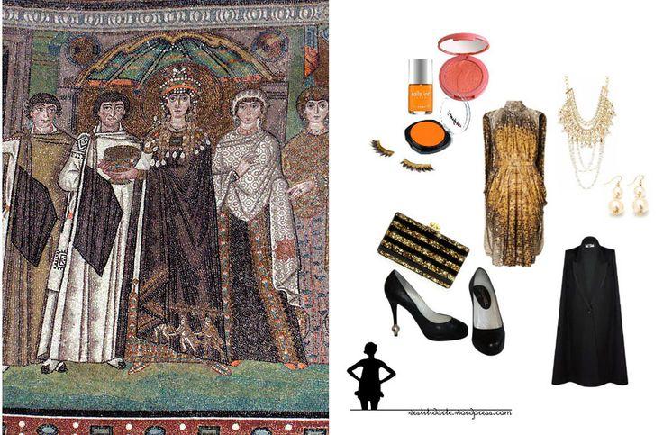 Sfarzo bizantino per la corte di Teodora http://vestitidarte.wordpress.com/2013/01/23/sfarzo-bizantino-per-la-corte-di-teodora/