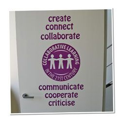 Collaborative Learning Vinyl Lettering Word Wall