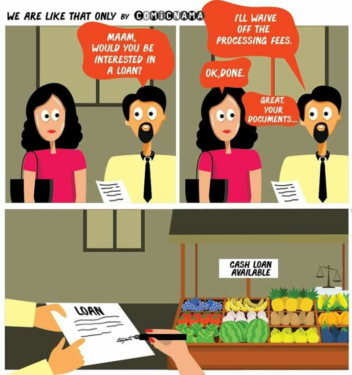 Are We There Yet? #comicnama #wearelikethatonly #art #artist #drawing #creative #artwork #illustration #graphic #design #comicstrip #comics #debt #loan #food #inflation #finance #bank #interest #EMI #money #sarcasm