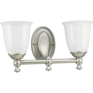 Victorian Collection Pearl Nickel 2 Light Vanity Fixture P3028 06 At The Home Depot Bathrooms