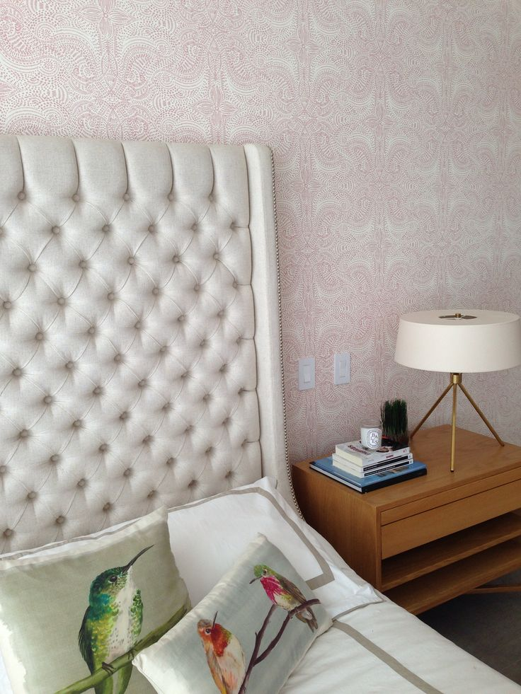 Andanza (Blush) bedroom HOWIHYGGE Removable wallpaper