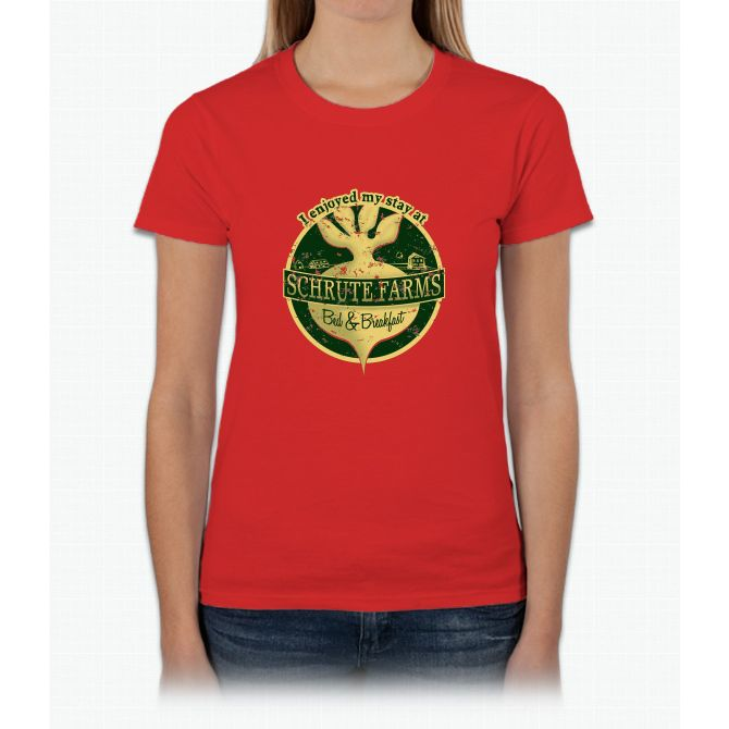 I enjoyed my stay at Schrute Farms (Green) Womens T-Shirt
