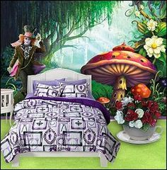 Alice In Wonderland Bedroom Decorating Ideas   Google Search