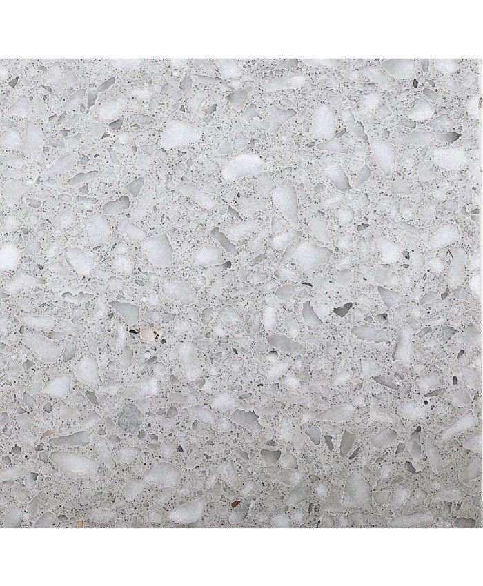 Melida terrazzo honed a pale grey terrazzo with chips of grey and white marble verona terrazzo honed a multi coloured terrazzo on a white background