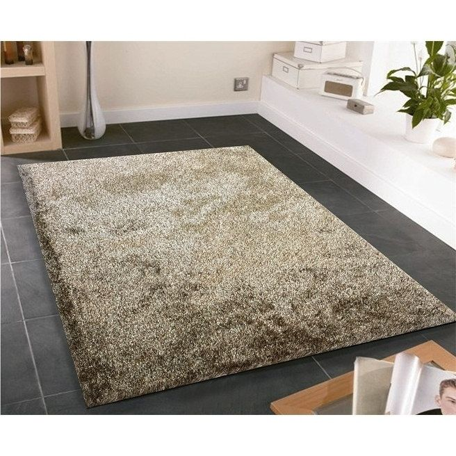 Solid 2Tone Brown Shag Rug Hand Tufted Weaving, 1-inch Thickness - 5' x 7', Size 5' x 7'